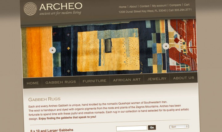 Design of Archeo online store based on Magento e-commerce platform