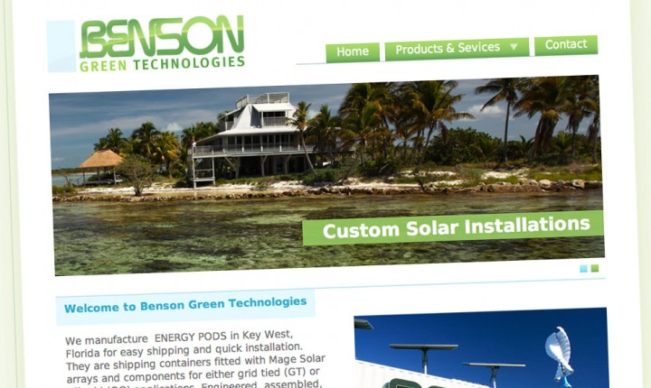 Benson Green Technologies's website