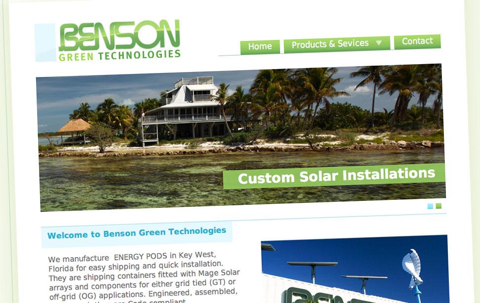Benson Green Technologies's website