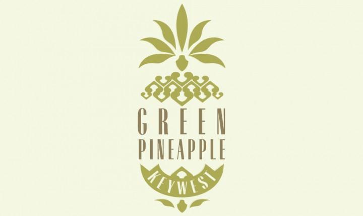Green Pineapple Key West logo design