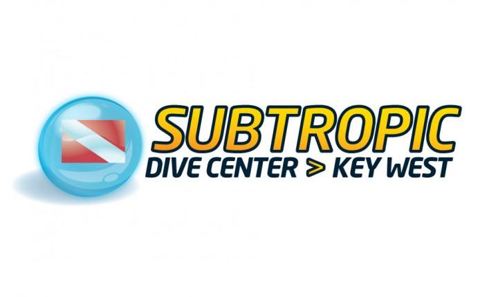 sub tropic diving key west logo design
