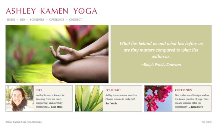 Ashley kamen yoga website key west