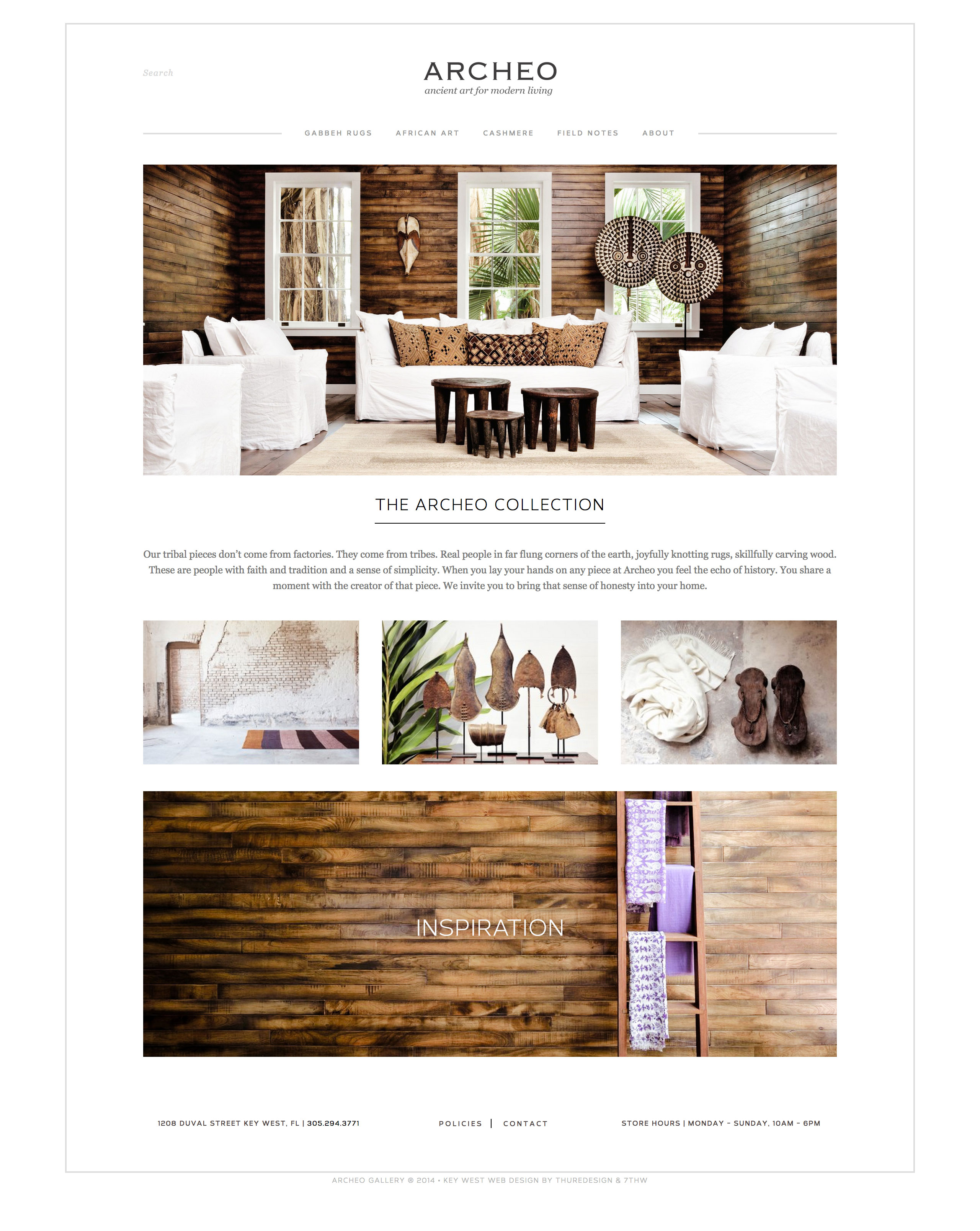 archeo gallery key west web design home